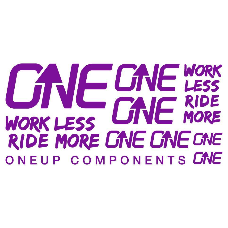 OneUp Components Handlebar Decal Kit-Purple MPN: 1C0629PUR Sticker/Decal Decal Kit