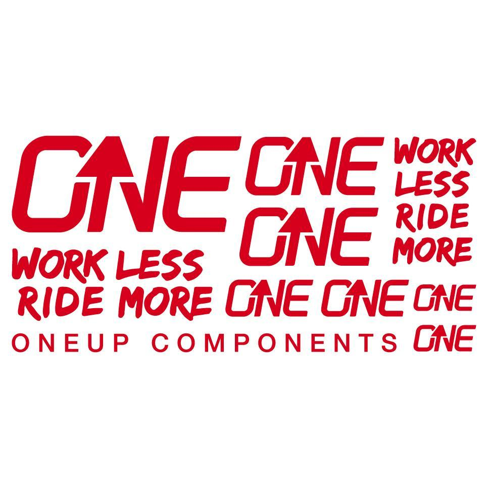 OneUp Components Handlebar Decal Kit Red MPN: 1C0629RED Sticker/Decal Decal Kit
