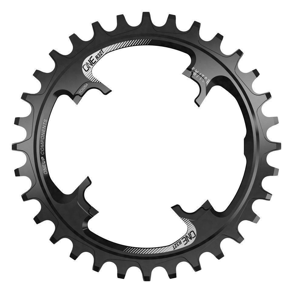 OneUp Components Switch Round Chainring, 32T - Black