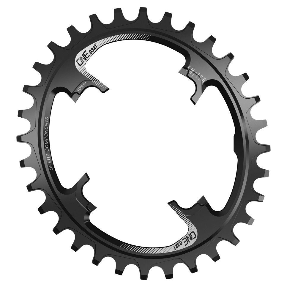 OneUp Components Switch oval chainring, 30T - black MPN: 1C0387BLK Chainring Switch
