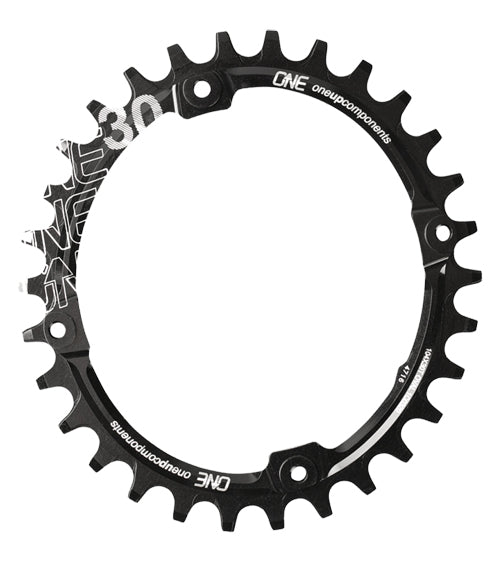 OneUp Components 104 Oval Chainring, 104BCD 34T, Black