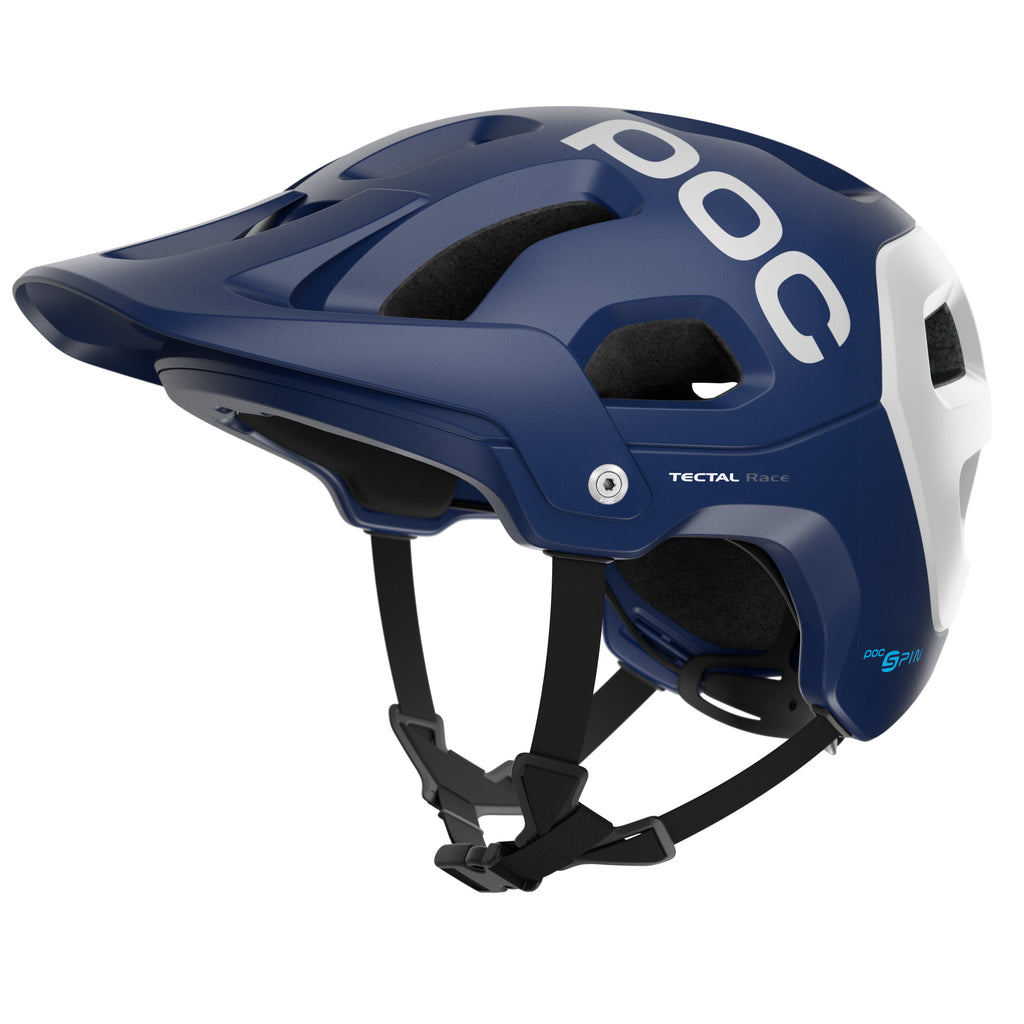 POC Tectal Race SPIN Helmet - Lead Blue/Hydrogen White, Medium/Large