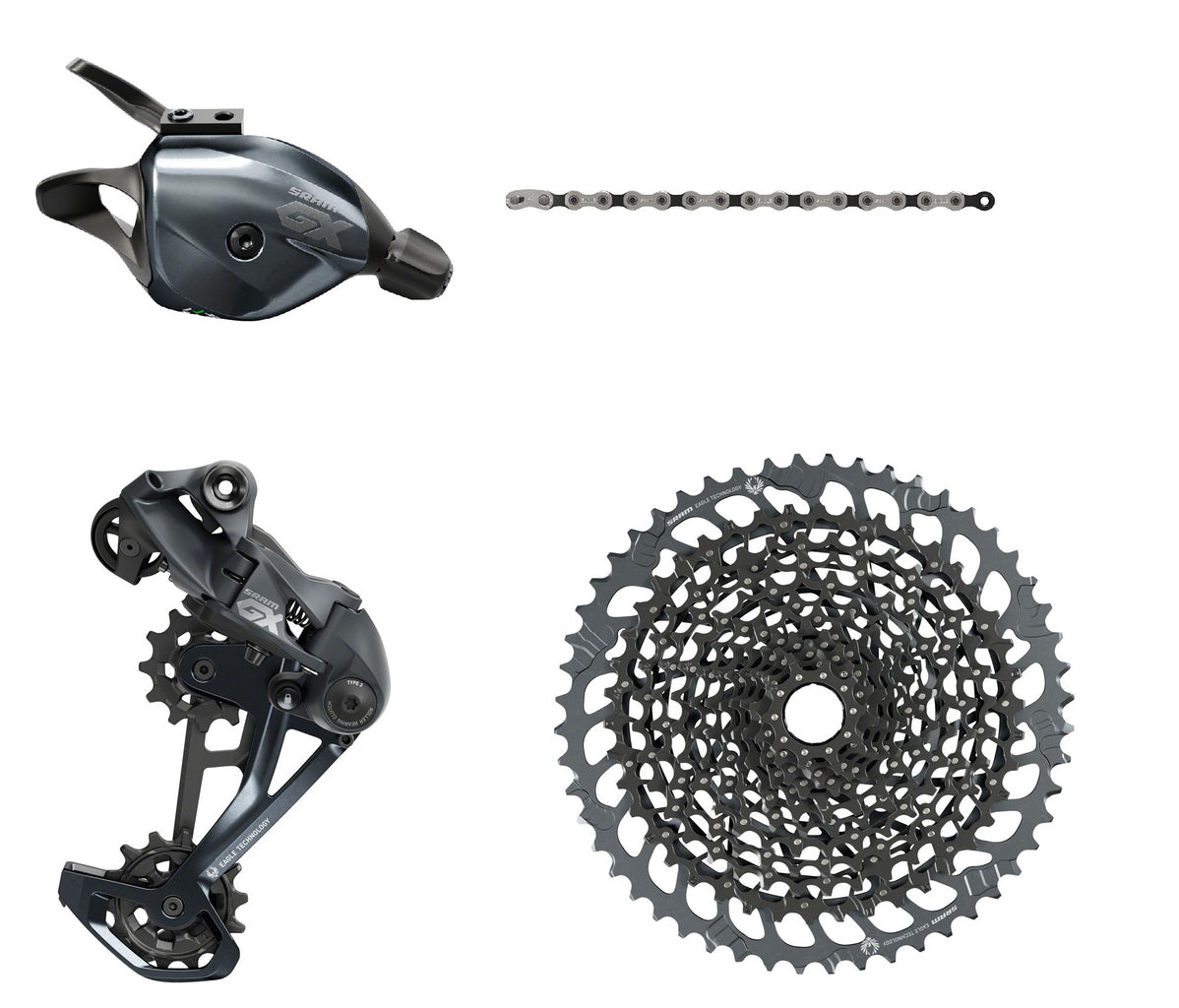 SRAM GX 1x11 Speed Drivetrain Groupset MTB Kit 4 piece Red Trigger Shifter