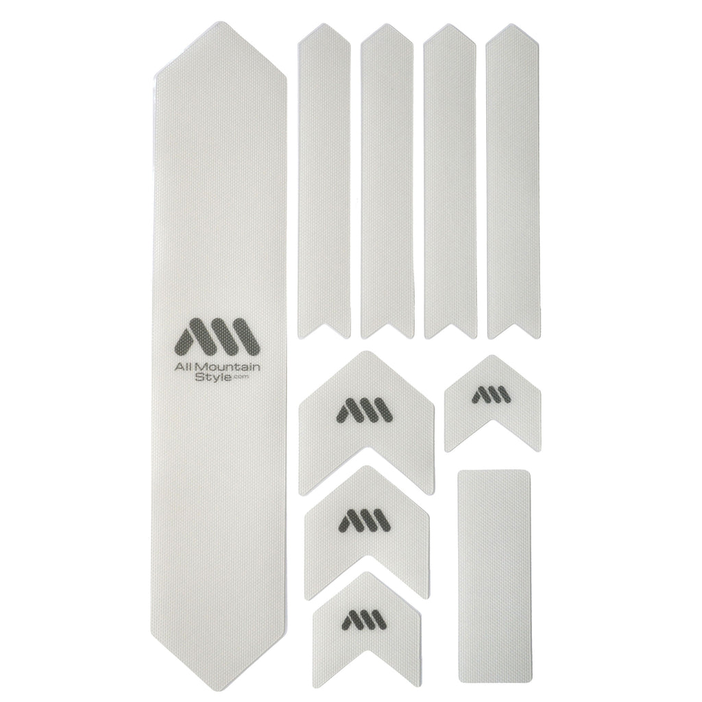 All Mountain Style Honeycomb Frame Guard XL, Clear/Silver MPN: AMSFG2CLSV UPC: 755918299311 Chainstay/Frame Protection Honeycomb