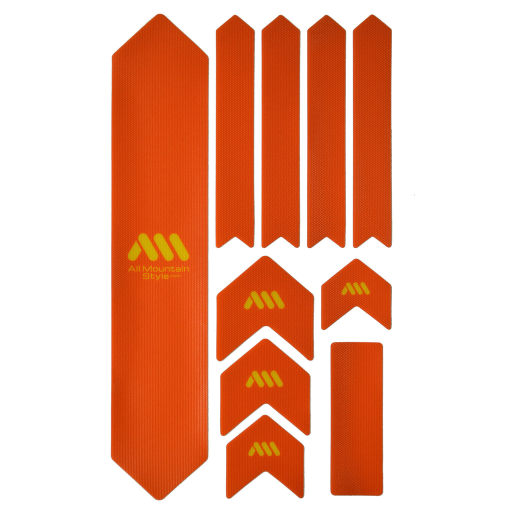 All Mountain Style Honeycomb Frame Guard XL, Orange/Yellow