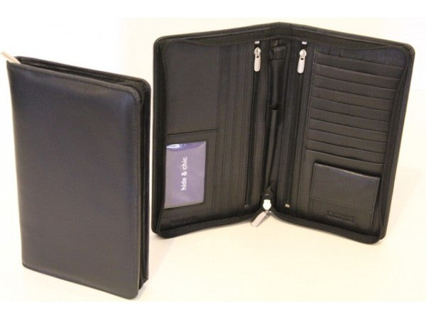 RFID QUALITY FULL GRAIN COW HIDE LEATHER PASSPORT WALLET.