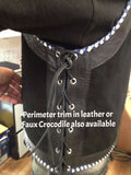 Gascoyne Vest  Black Suede with  2 Colour  Perimeter Lacing