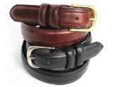 Belt Black 30 mm stitched