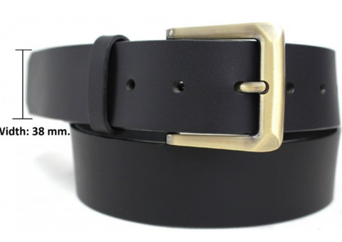 Belt Black 38 mm removable buckle