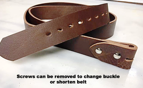 Belt Brown 38 mm NO buckle
