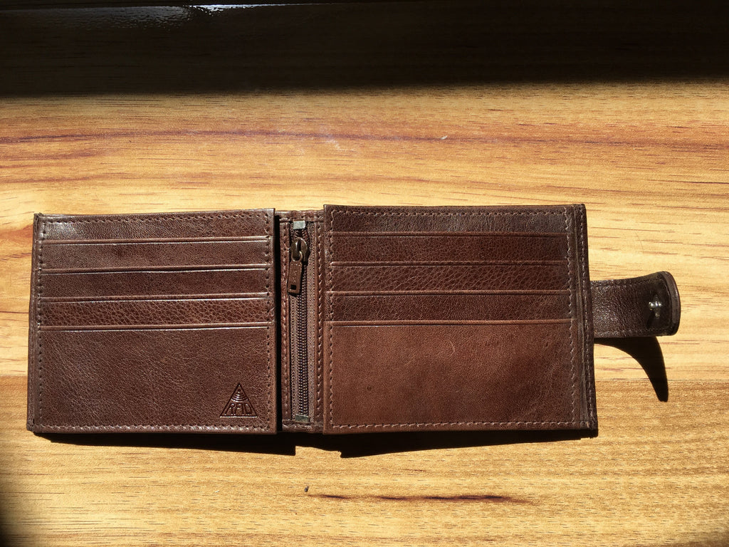 Wallet Full grain leather Brown