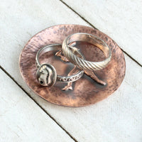 Baseball Player Copper Ring Dish