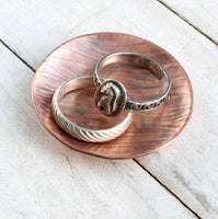Gentle Waves Copper Ring Dish