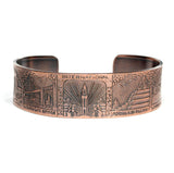 1939 Golden Gate Exposition Reproduction Copper Cuff Bracelet