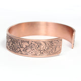 Vintage Design Copper Cuff Bracelet Thistle