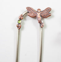Fairy in a Peridot Garden Hair Fork