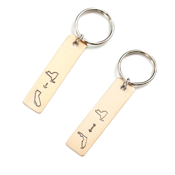 Long Distance Move Keychain with Two States