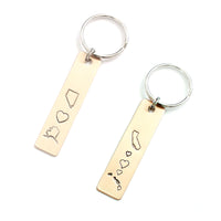 Long Distance Love Keychain with Two States