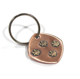 Weed Keychain Bronze Copper