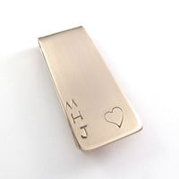 money clip personalized initials