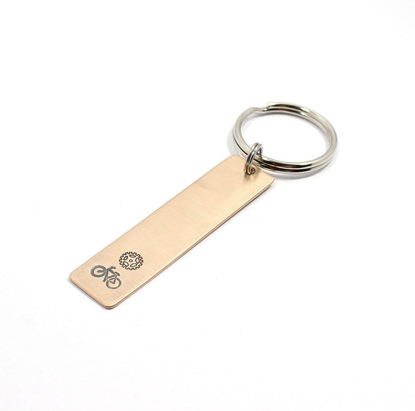 bicycle and sprocket keychain
