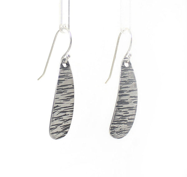 LINES Short Sterling Silver Earrings