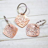 engineer gift copper keychain