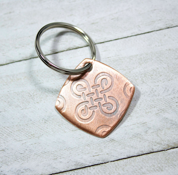 celtic knot copper keychain handmade