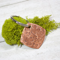 Shamrock Copper Keychain