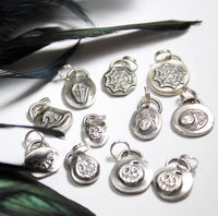 halloween sterling silver charms