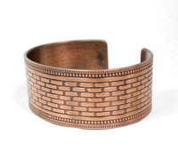 copper design pattern cuff bracelet