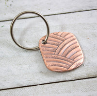 art deco arches copper keychain handmade