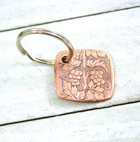 Grapevine Copper Keychain