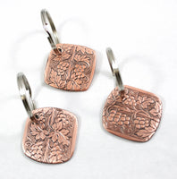 Grapevine Vintage Pattern Copper Keychain