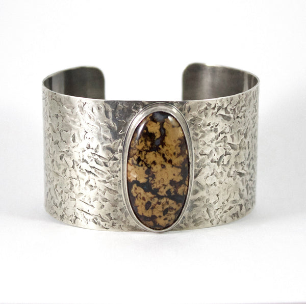 Stefoinite Sterling Silver Cuff Bracelet Brown