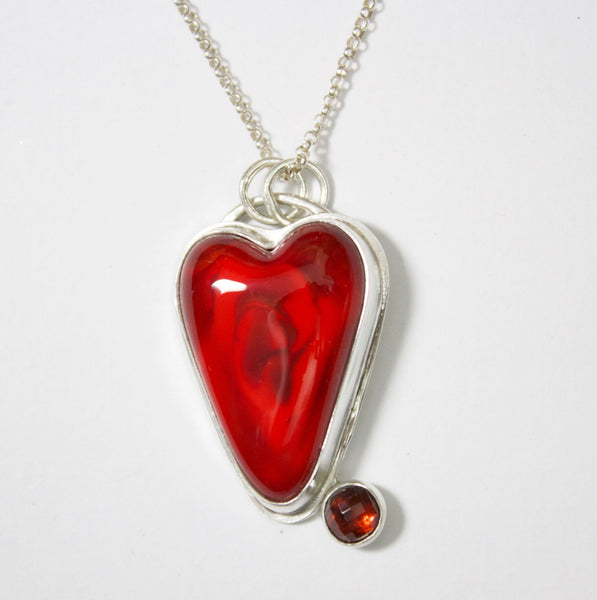 Bold Red Heart Pendant