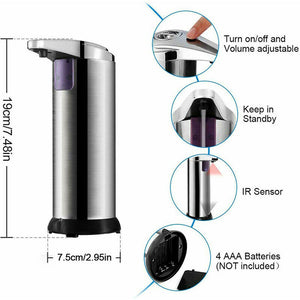 Stainless Steel Automatic Soap Dispenser features