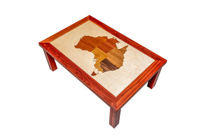 Bespoke wooden furniture Australia map