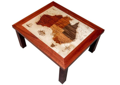Smooth finish intricate detail Australia map coffee table