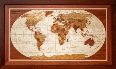 World Wooden Map N3