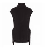 Black Knit Vest with Tie Detail