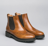 Women's Leather Chelsea Boot in Tan
