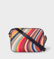 Women's 'Swirl' Print Leather Cross-Body Bag