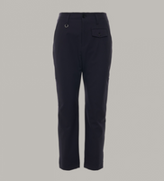 HYPER: Cropped Pants In Navy Tech Stretch Twill
