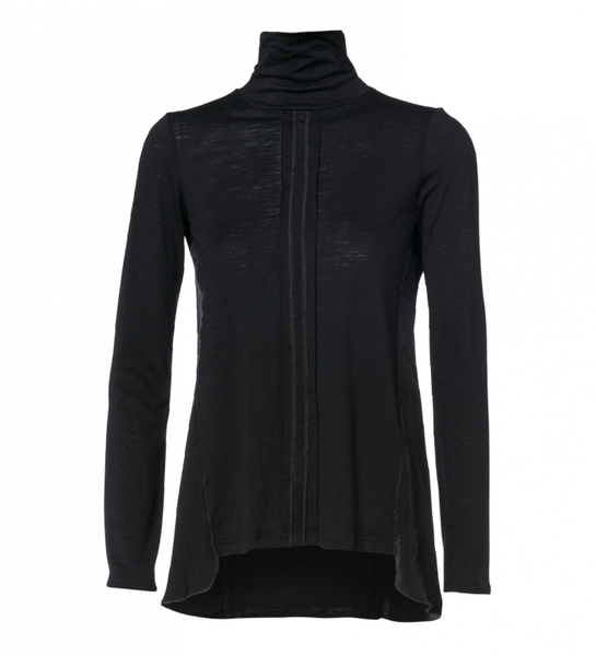 SERENADE: Black Jersey Roll Neck