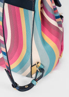 'Spring Swirl' Print Leather Backpack