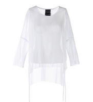 ONESTA Mesh Tunic in White