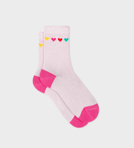 Women's Pink 'Heart And Speckle' Socks