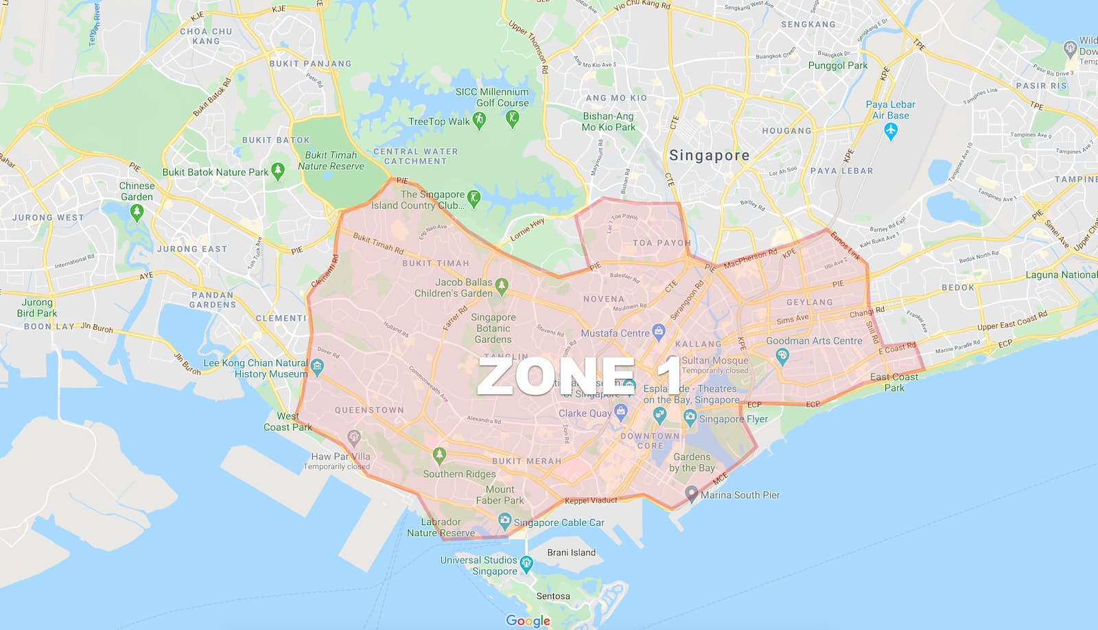 Delivery zones for All thing Delicious To go