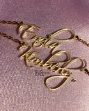 Script Nameplate Necklace